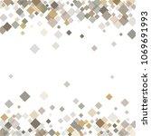 rhombus white minimal geometric ... | Shutterstock .eps vector #1069691993