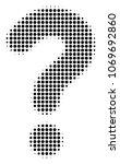 question halftone vector...   Shutterstock .eps vector #1069692860