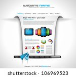 modern web templave with paper... | Shutterstock .eps vector #106969523