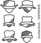 shield badge for design | Shutterstock .eps vector #106969640
