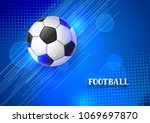 soccer or football banner with... | Shutterstock .eps vector #1069697870