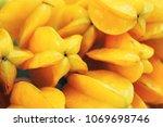 carambola or star apple fruit | Shutterstock . vector #1069698746