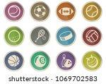 sport balls vector icons in the ... | Shutterstock .eps vector #1069702583