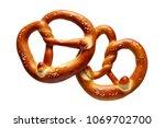 german soft pretzel. two german ... | Shutterstock . vector #1069702700