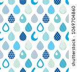 falling rain drops water vector ... | Shutterstock .eps vector #1069704860