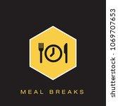 meal breaks icon | Shutterstock .eps vector #1069707653