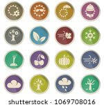 seasons web icons in the form... | Shutterstock .eps vector #1069708016