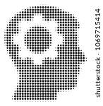 intellect gear halftone vector... | Shutterstock .eps vector #1069715414