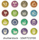 rhythm instruments web icons in ... | Shutterstock .eps vector #1069721930