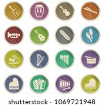 musical instruments web icons... | Shutterstock .eps vector #1069721948