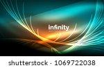 abstract wave on dark... | Shutterstock .eps vector #1069722038