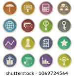 marketing vector icons in the... | Shutterstock .eps vector #1069724564