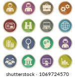 management vector icons for web ... | Shutterstock .eps vector #1069724570