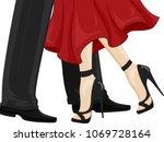 illustration of a man in black... | Shutterstock .eps vector #1069728164