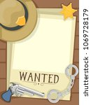 illustration of a blank sheriff ... | Shutterstock .eps vector #1069728179