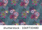 beautiful seamless pattern with ... | Shutterstock .eps vector #1069733480