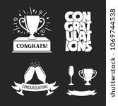 congratulations labels set.... | Shutterstock .eps vector #1069744538