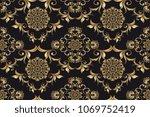 seamless luxury golden... | Shutterstock .eps vector #1069752419