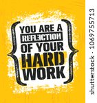 you are a reflection of your... | Shutterstock .eps vector #1069755713
