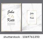 elegant creative business cards ... | Shutterstock .eps vector #1069761350