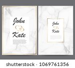 elegant creative business cards ... | Shutterstock .eps vector #1069761356
