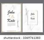elegant creative business cards ... | Shutterstock .eps vector #1069761383