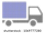 delivery lorry halftone vector...   Shutterstock .eps vector #1069777280