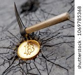 bitcoin mining concept with... | Shutterstock . vector #1069785368