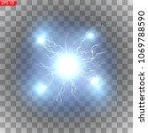 lightning  bright flashes ...   Shutterstock .eps vector #1069788590
