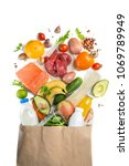 grocery shopping concept.... | Shutterstock . vector #1069789949