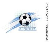 argentina soccer team... | Shutterstock .eps vector #1069791710