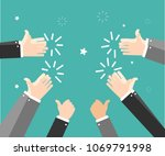 human hands clapping. applaud... | Shutterstock .eps vector #1069791998