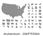 states of america territory on... | Shutterstock .eps vector #1069792064