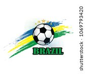 brazil soccer team background... | Shutterstock .eps vector #1069793420