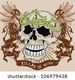 vintage skull | Shutterstock .eps vector #106979438