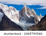 picturesque views of snow... | Shutterstock . vector #1069794560