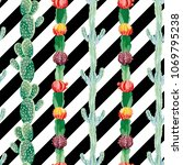 botanical vector pattern... | Shutterstock .eps vector #1069795238