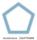contour pentagon halftone...   Shutterstock .eps vector #1069796888