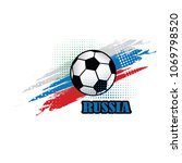 russia soccer team background... | Shutterstock .eps vector #1069798520