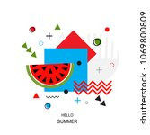 trendy style geometric pattern... | Shutterstock .eps vector #1069800809