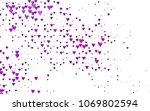 light purple vector greeting...   Shutterstock .eps vector #1069802594