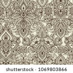 vector seamless pattern with... | Shutterstock .eps vector #1069803866