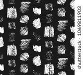 monochrome grunge scratched... | Shutterstock .eps vector #1069811903