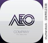logo letter combinations a  e... | Shutterstock .eps vector #1069812338