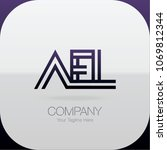 logo letter combinations a  e... | Shutterstock .eps vector #1069812344
