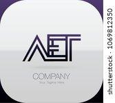 logo letter combinations a  e... | Shutterstock .eps vector #1069812350