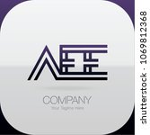logo letter combinations a  e... | Shutterstock .eps vector #1069812368