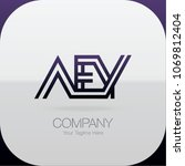 logo letter combinations a  e... | Shutterstock .eps vector #1069812404