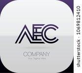 logo letter combinations a  e... | Shutterstock .eps vector #1069812410