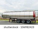 Fuel Tanker. Semi Truck
